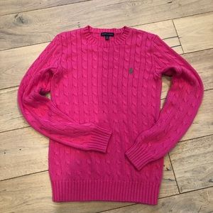 Ralph Lauren pink sweater, medium